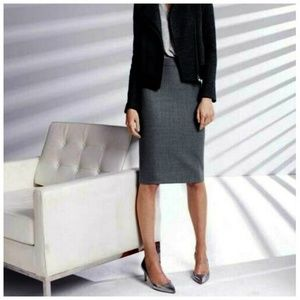 NEW J. Crew No. 2 Wool Pencil Skirt in Gray Size 8